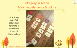 Let's play in Arabic! Listening & speaking games with flashcards - colors in Arabic - Arabic Seeds - Arabic for kids