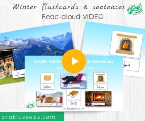 Arabic Winter flashcards and sentences Read-aloud Video - Arabic Seeds