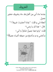 The lamb - Arabic text and audio