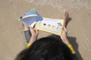 """Reading """"Five Senses at the beach"""" - by @ayeina_official"""