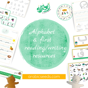Arabic alphabet reading writing beginners printables - Arabic Seeds resources for kids
