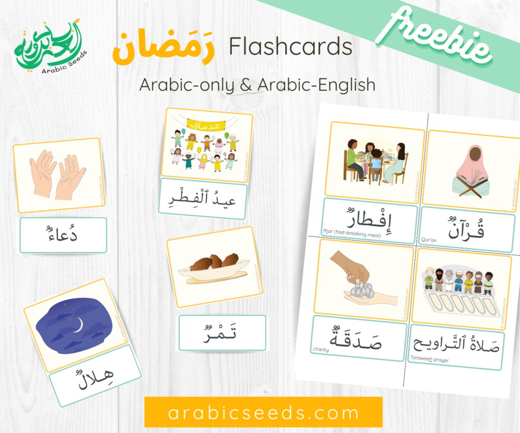 Arabic free Ramadan Flashcards - Arabic Seeds free printables