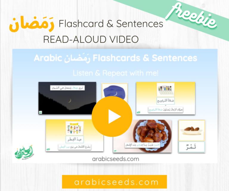 Free Arabic VIDEO Ramadan flashcards and sentences - Arabic Seeds freebies