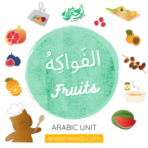 Arabic Fruits themed unit - Arabic printables, videos, audios, game - Arabic Seeds resources for kids