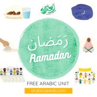 Free Arabic Ramadan unit theme - free Arabic printables, videos, audios - Arabic Seeds resources for kids