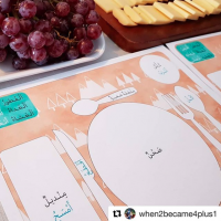 Arabic Meal Mats by @when2become4plus1 (instagram)